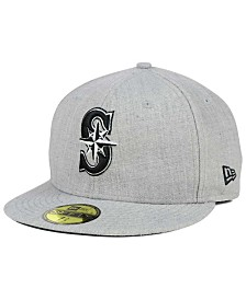 New Era Seattle Mariners Heather Black White 59FIFTY Fitted Cap