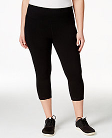 Ideology Plus Size Slimming Cropped Leggings, Created for Macy's