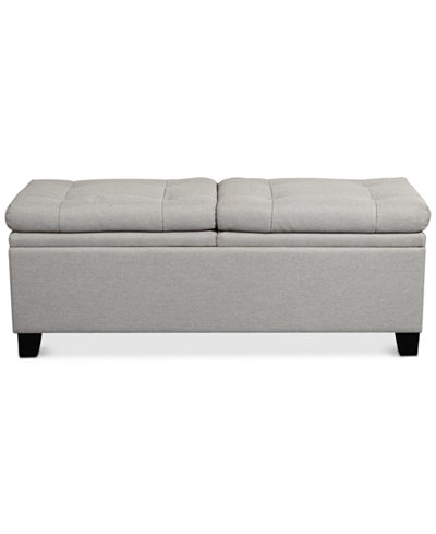 Rhett Storage Upholstered Bed Bench, Quick Ship