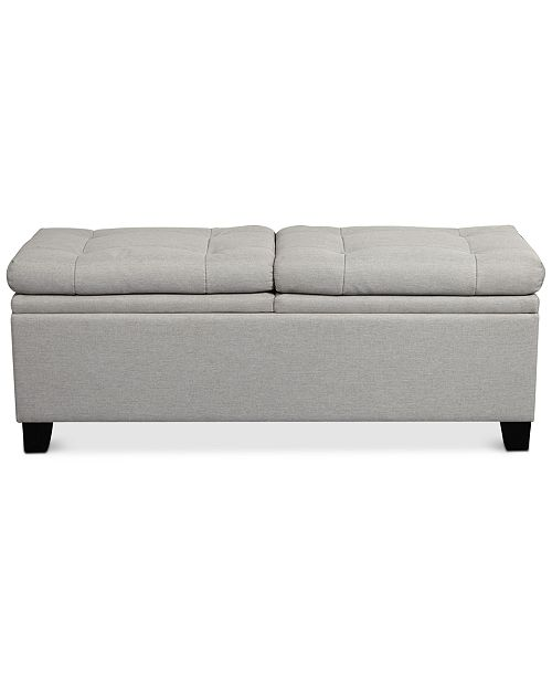 Furniture Rhett Storage Upholstered Bed Bench, Quick Ship