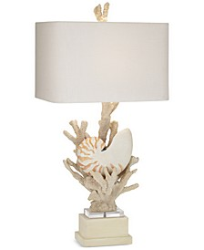 kathy ireland home by Hanauma Bay Nautilus Shell Table Lamp