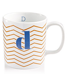 "The Cellar Chevron Initial Mug Collection ""D"" Mug, Created for Macy's"