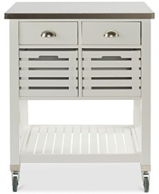 Robbin Kitchen Cart, White