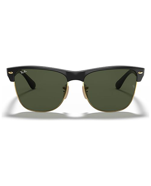 Ray-Ban Sunglasses, RB4175 CLUBMASTER OVERSIZED - Sunglasses by Sunglass  Hut - Handbags   Accessories - Macy s 7f00dffac4