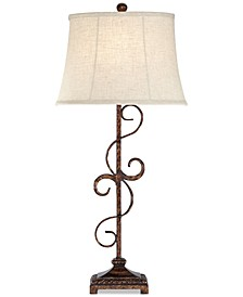 Pacific Coast Curvy Metal Table Lamp, Created for Macy's