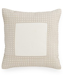 """CLOSEOUT! Modern Eyelet 16"""" Square Decorative Pillow, Created for Macy's"""