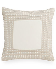 """CLOSEOUT! Hotel Collection Modern Eyelet 16"""" Square Decorative Pillow, Created for Macy's"""