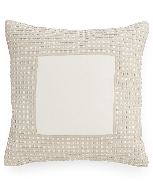 "Hotel Collection  CLOSEOUT! Modern Eyelet 16"" Square Decorative Pillow, Created for Macy's"
