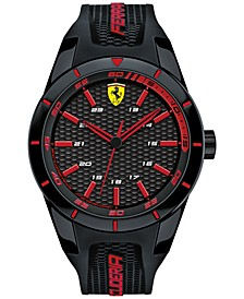 Mens Redrev Black Silicone Strap Watch 44mm 0830245