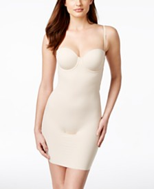 Maidenform Endlessly Smooth Firm Tummy-Control Strapless Convertible Underwire Slip DM1007