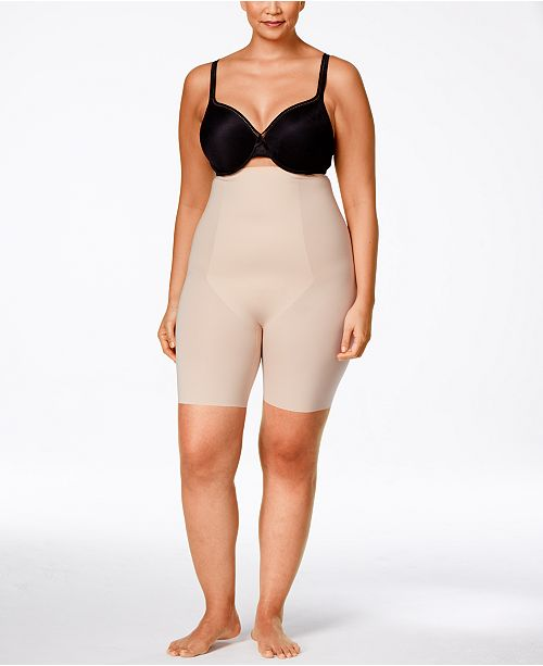 6dffc630e61 ... SPANX Women s Thinstincts Plus Size Thinstincts High-Waisted Mid-Thigh  Short ...