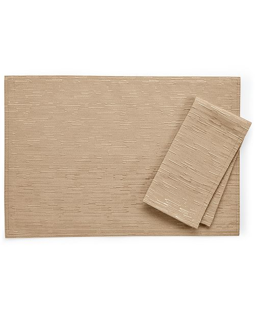 """Bardwil Continental Collection 19"""" X 19"""" Taupe Napkin"""