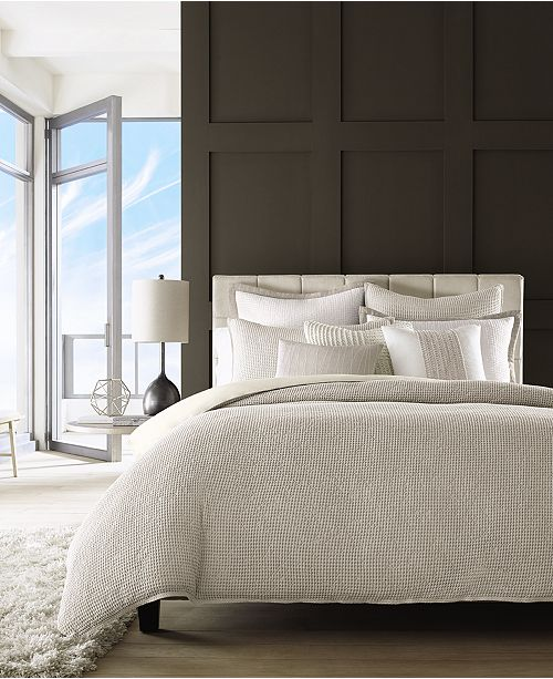 Reviews On Hotel Collection Bedding: Hotel Collection Waffle Weave Bedding Collection, Created