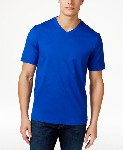 Club room men 39 s big tall v neck t shirt only at macy 39 s for Tall v neck t shirts