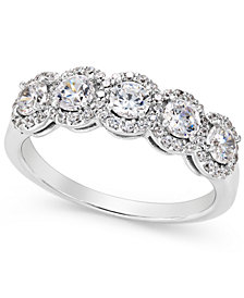 Five-Stone Diamond Band (1 ct. t.w.) in 14k White Gold