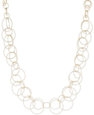 Image of Anne Klein Bubble-Style Open Link Collar Necklace