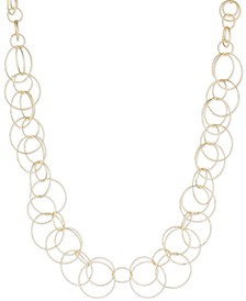 Bubble-Style Open Link Collar Necklace