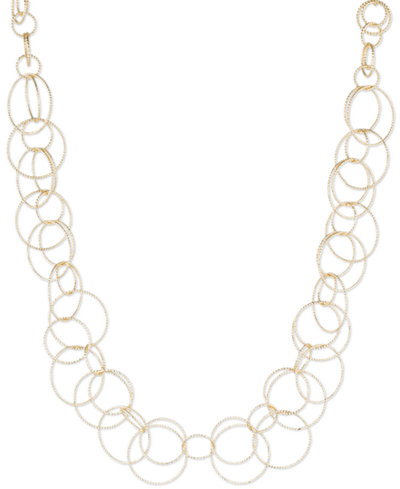 Anne Klein Bubble-Style Open Link Collar Necklace