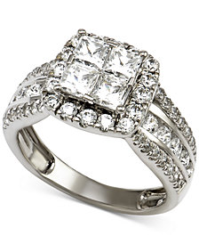Diamond Engagement Ring (2-1/2 ct. t.w.) in 14k White Gold