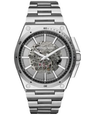 Michael Kors Men\u0026#39;s Automatic Wilder Stainless Steel Bracelet Watch 44mm MK9021