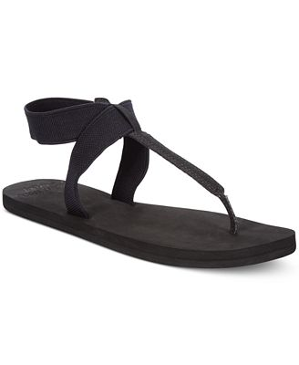 Reef Cushion Moon T-Strap Flat Sandals Women's Shoes