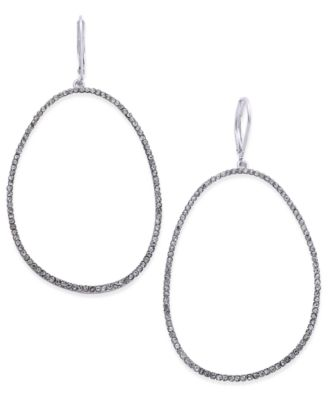 "I.N.C. Extra Large 2.5"" Pavé Large Loop Earrings, Created for Macy's"