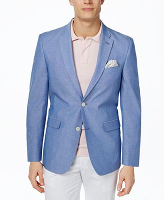 Tommy Hilfiger Chambray Extra Slim-Fit Sport Coat - Blazers ...
