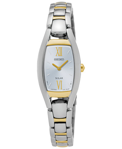 Seiko Women's Solar Sport Two-Tone Stainless Steel Bracelet Watch 18mm SUP318