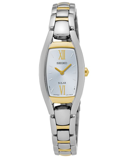 Seiko Women's Solar Sport Two-Tone Stainless Steel Bracelet Watch 18mm SUP318