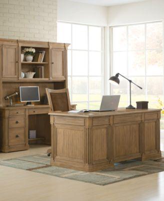 Furniture CLOSEOUT! Sherborne Home Office Furniture, 3 Pc. Set (Executive  Desk, Credenza Desk U0026 Hutch)   Furniture   Macyu0027s