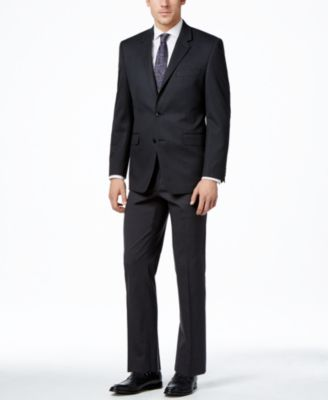 Men's Traveler Charcoal Solid Classic-Fit Jacket, Created for Macy's