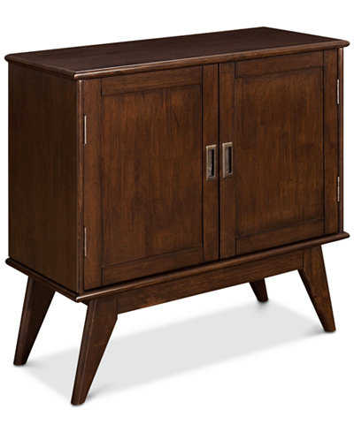 kentler mid century low storage cabinet quick ship furniture macy 39 s. Black Bedroom Furniture Sets. Home Design Ideas