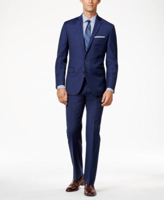 Ryan Seacrest Distinction Men's Mid Blue Modern Fit Pants, Created ...