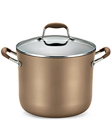 Anolon Advanced Bronze Hard Anodized Nonstick 10-Qt. Stockpot with Lid