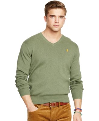 Image of Polo Ralph Lauren Pima V-Neck Sweater