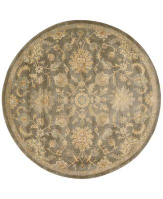 CLOSEOUT! Rajah Arabesque Mushroom 6' Round Rug