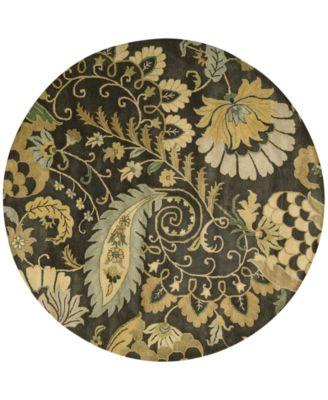 CLOSEOUT! Rajah Paisley Floral 6' Round Rug