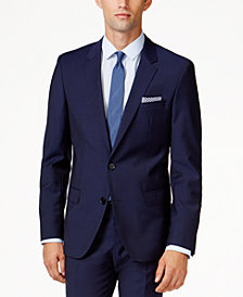 HUGO by Hugo Boss Men's Blue Extra Slim-Fit Jacket