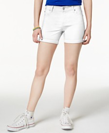 """Celebrity Pink Juniors' 5"""" Cuffed Colored Shorts"""