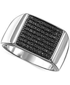 Men's Black Diamond (3/4 ct. t.w.) Ring in Sterling Silver