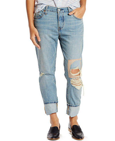 Levi's® 501® CT Customized Tapered Boyfriend Jeans - Juniors Jeans ...