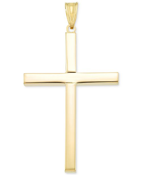 Italian Gold Cross Pendant in 14k Gold