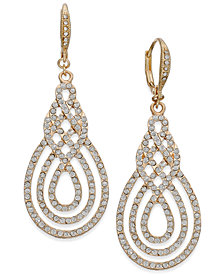 I.N.C. Pavé Open Saturn Drop Earrings, Created for Macy's
