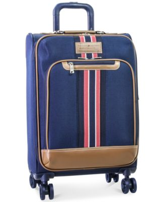 "Image of Tommy Hilfiger Freeport 21"" Expandable Spinner Suitcase, Only at Macy's"