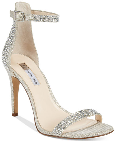 INC International Concepts Women's Roriee Rhinestone Ankle-Strap Dress  Sandals, Created for Macy's - INC International Concepts Women's Roriee Rhinestone Ankle-Strap