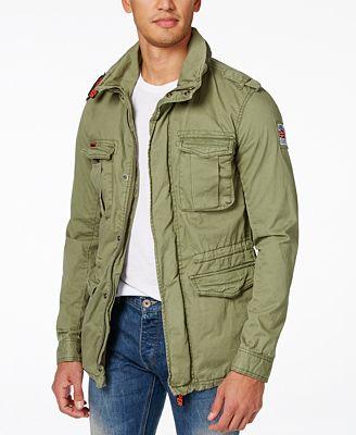 Superdry Men's Rookie Military Jacket - Coats & Jackets - Men - Macy's