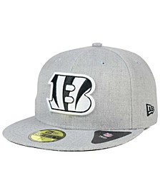 Cincinnati Bengals Heather Black White 59FIFTY Fitted Cap