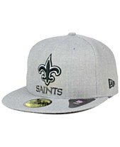 New Era New Orleans Saints Heather Black White 59FIFTY Fitted Cap 31e33469c