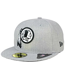 Washington Redskins Heather Black White 59FIFTY Fitted Cap