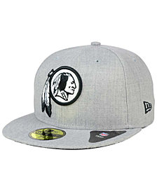 New Era Washington Redskins Heather Black White 59FIFTY Fitted Cap